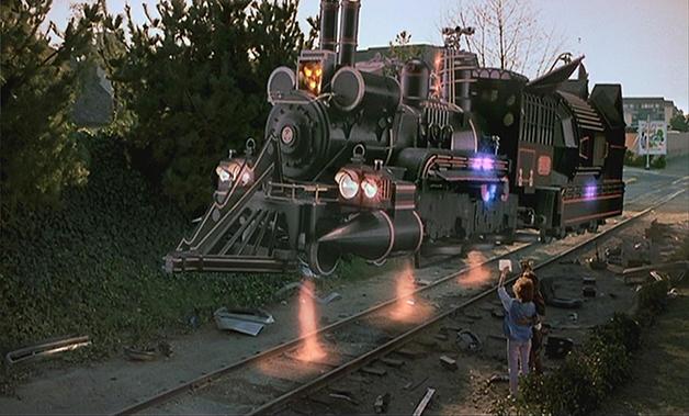 """A locomotiva voadora do filme """"De Volta Para o Futuro III"""""""