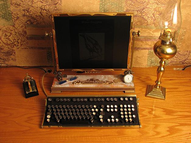 Um computador steampunk