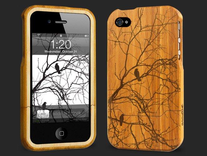 Case de Bambu para iPhone 4