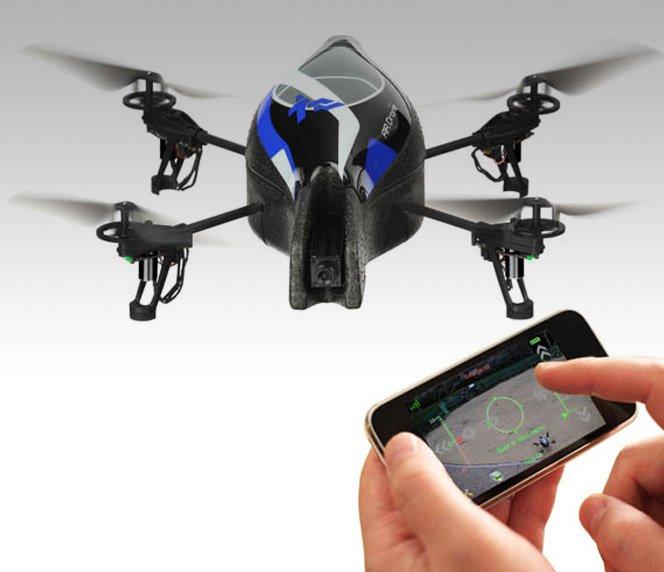 Helicóptero de brinquedo  controlado pelo iPhone