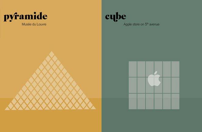 Novas ilustrações Paris vs Nova York