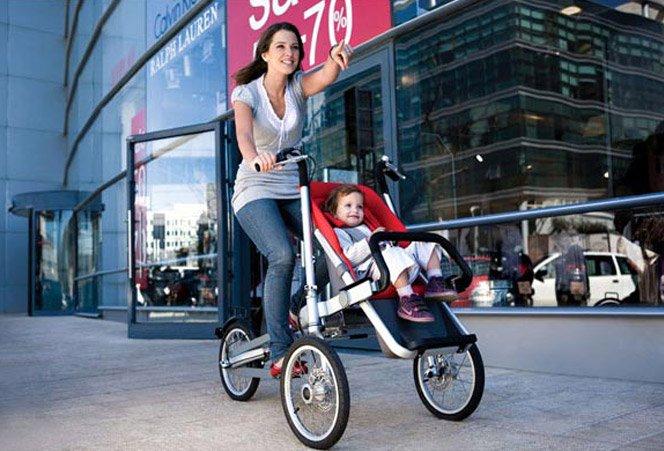 Bicicleta + Carrinho de bebê = Taga
