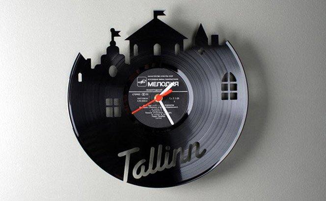 Relógios de LP de vinil