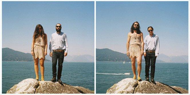 Fotógrafa troca casais de roupa