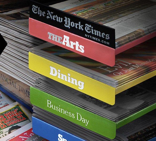 Jornal vendido por caderno