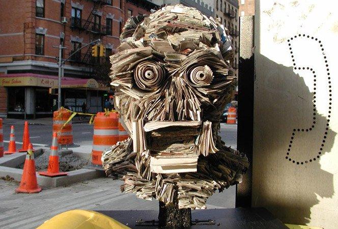 Esculturas de jornal