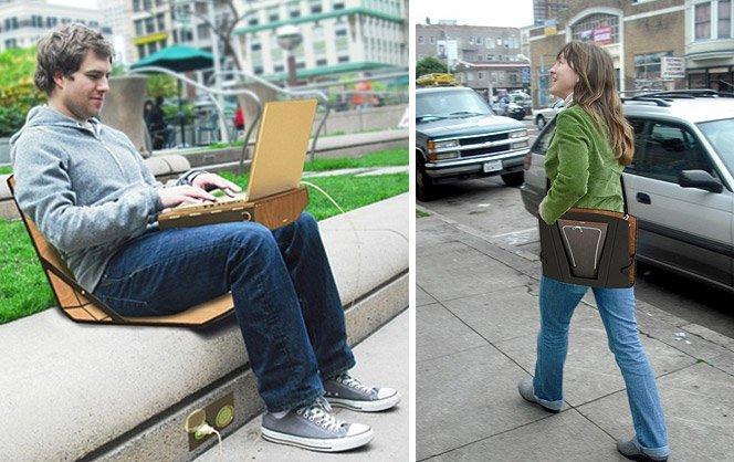 Mesa + Pasta + Cadeira para laptop