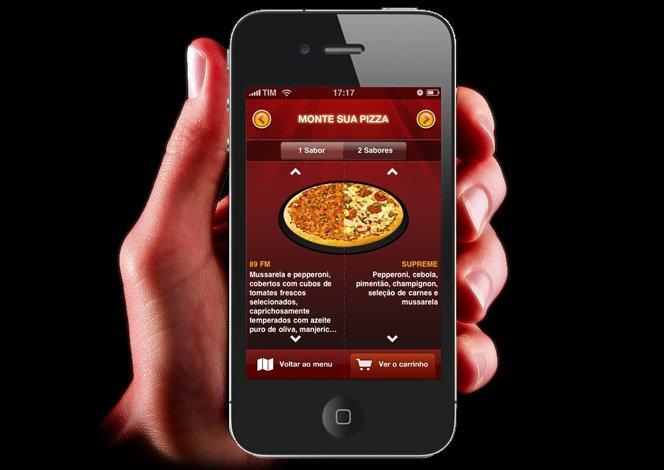 Pizza Hut pelo iPhone em Sampa