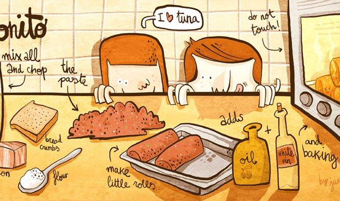 Desenhe sua receita de comida