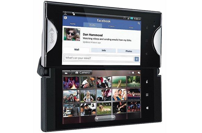 Kyocera Echo . Celular com duas telas