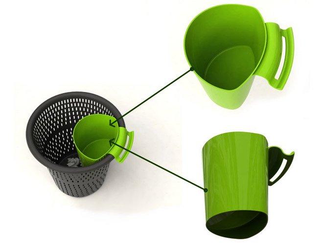 Adaptador para lixo reciclado