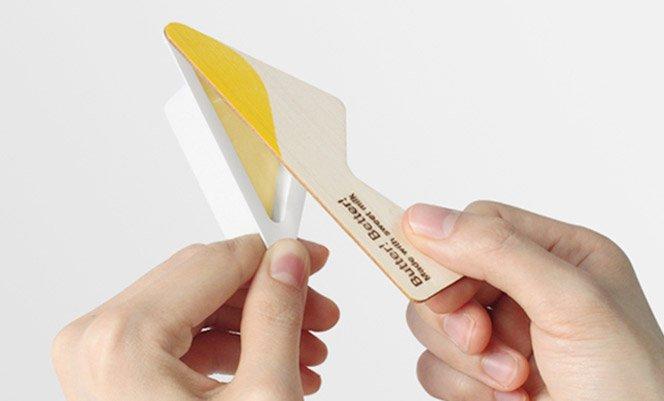 Embalagem inovadora para manteiga