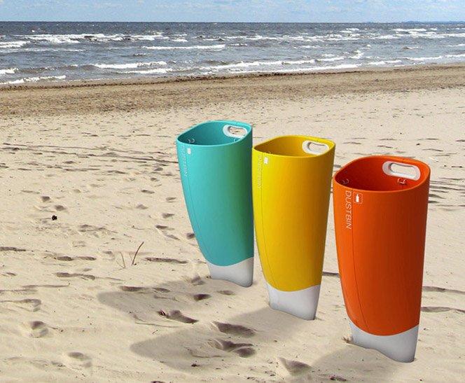 Lixeira para praia