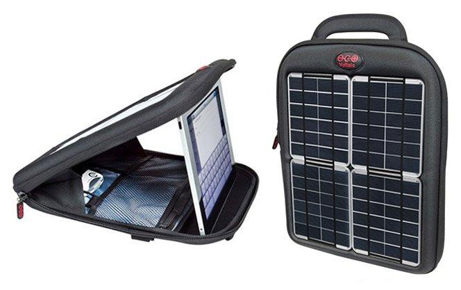 Mochila carrega Ipad com energia solar