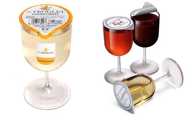 Embalagem prática para vinho