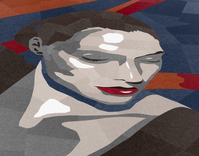 Ilustração gigante com 7.000 peças de carpete