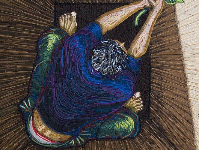 Arte com cadarços de tênis