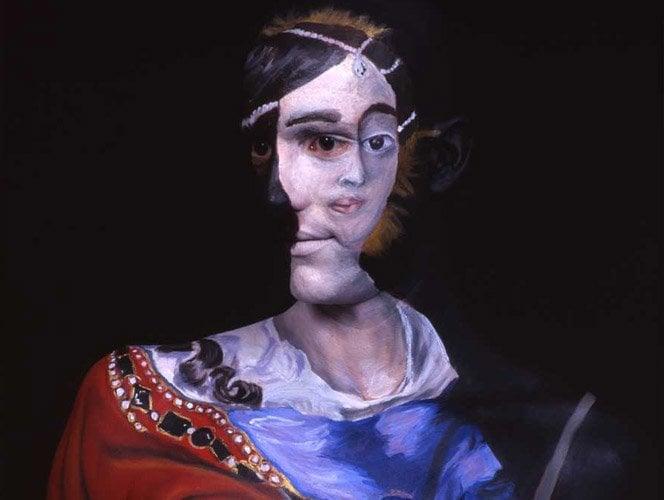 Quadros pintados em corpos humanos