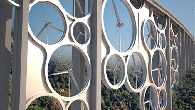Ponte com geração de energia limpa