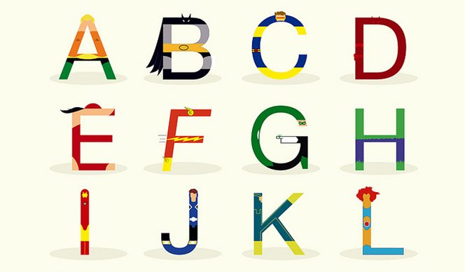Super-Heróis Tipográficos