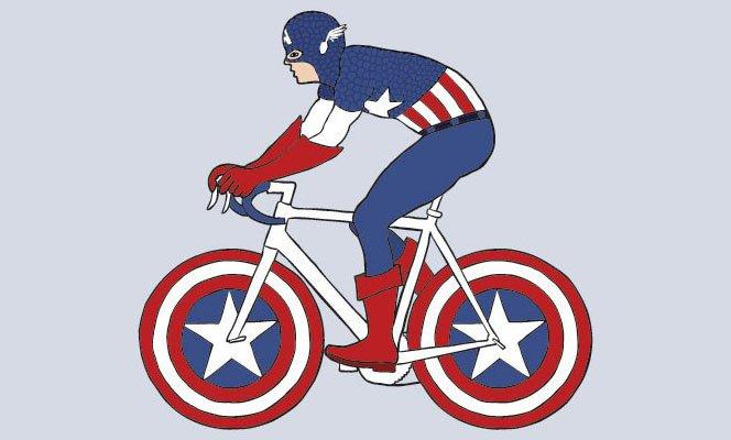 Os super-heróis e suas bicicletas