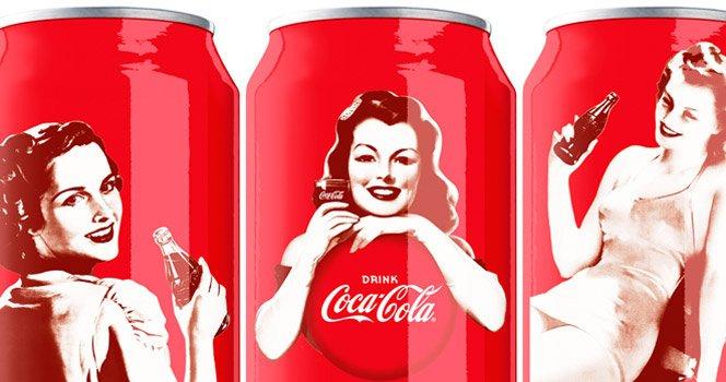 Embalagens Retrô de Coca-Cola