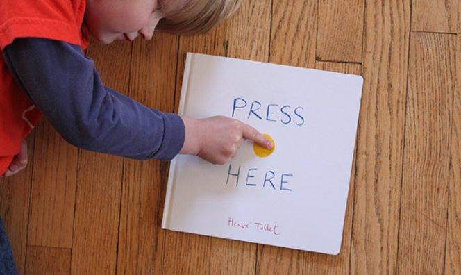 Press Here – um livro simples e mágico para crianças