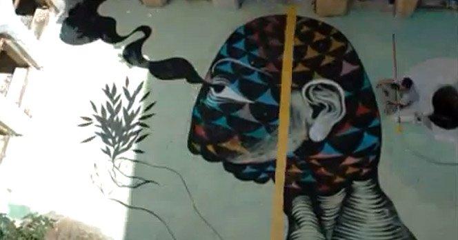 Graffiti Stop-Motion Gigante