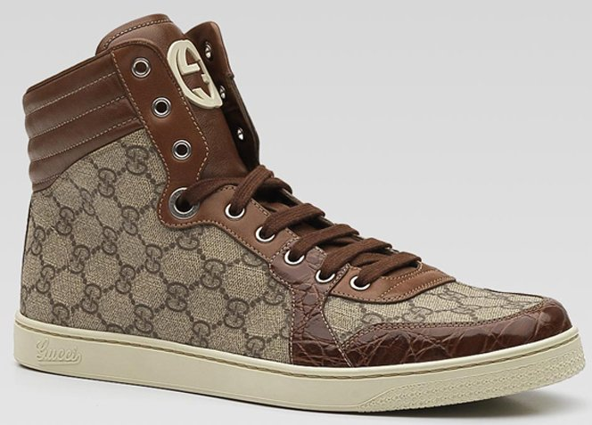 GUCCI Hi Top Lace-Up Sneaker
