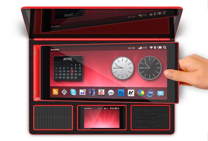 Laptop com Tablet e SmartPhone Integrado