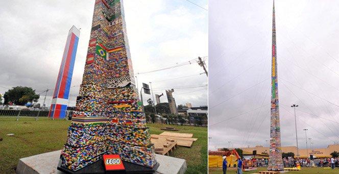 A maior torre de Lego do mundo é brasileira