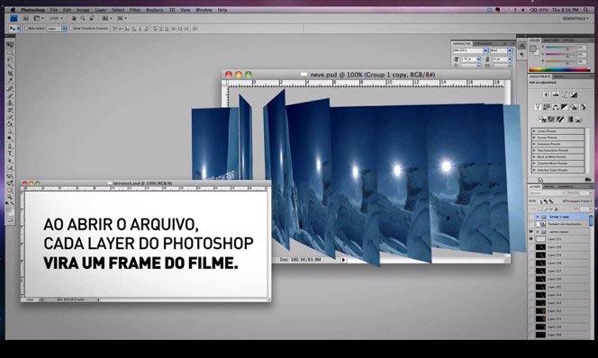 Primeiro filme no Photoshop