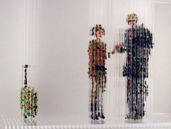 Figuras 3D em ilusão de óptica