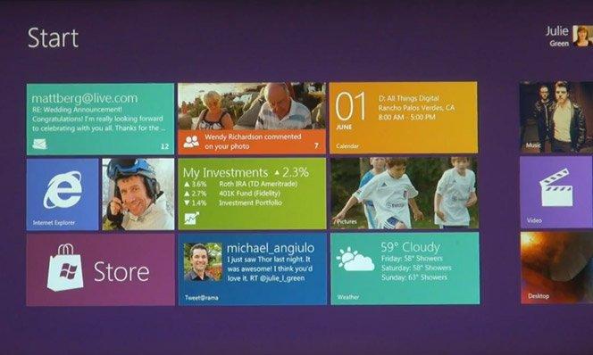 O Design do Windows 8