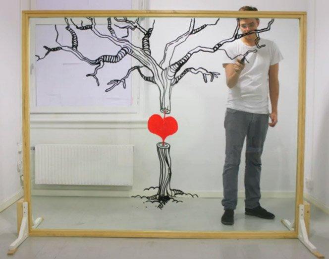 Animação de Ilustração no Vidro