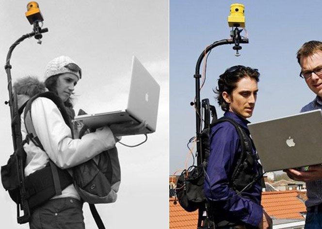 Câmera de vídeo que filma 360 graus