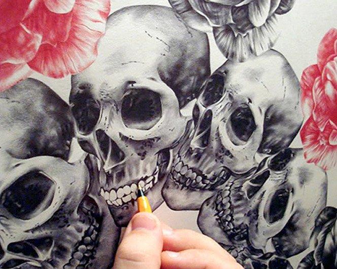 Arte com Caneta Bic