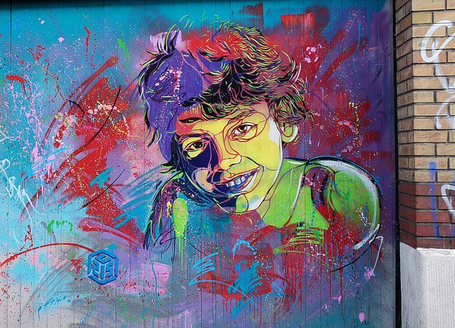 Graffitis Coloridos de C215