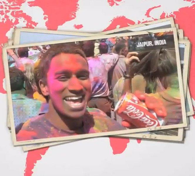 Com Coca-Cola na mão, consumidor cria vídeo em 48 cidades do mundo