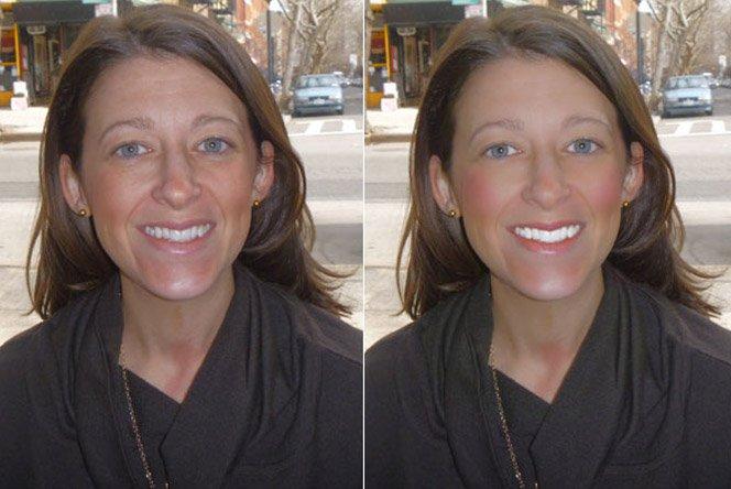 Câmera aplica maquiagem em fotos