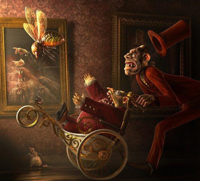 Arte em 3D de Laurent Pierlot
