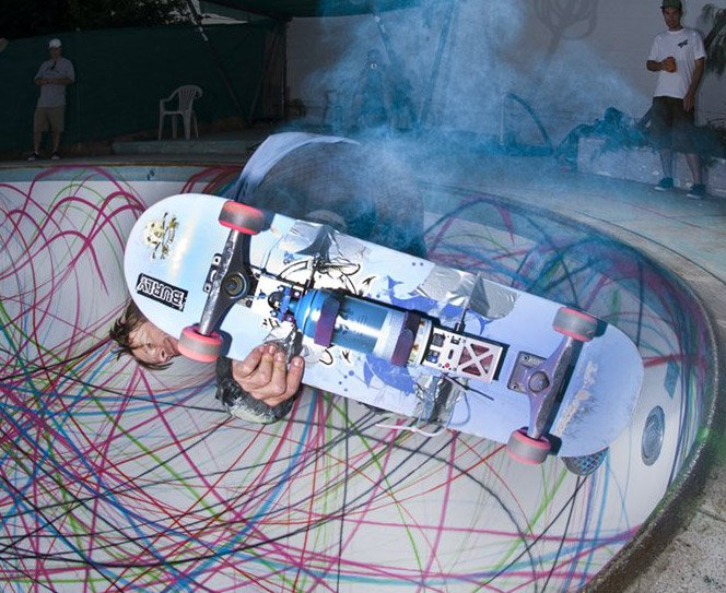 Pintando com Skates