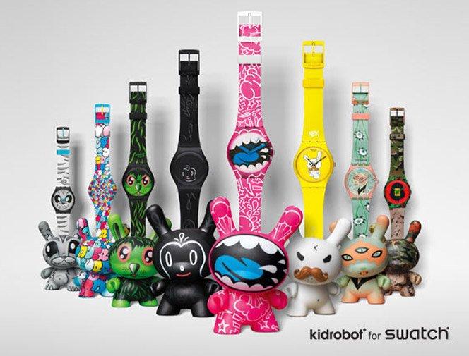 Relógios Swatch + Toyart