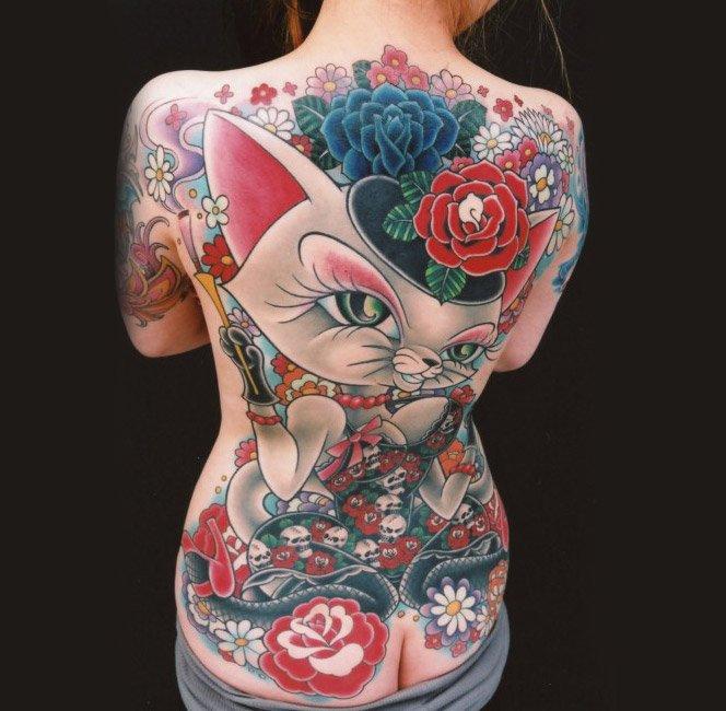 Tatuagens clássicas com estilo mangá