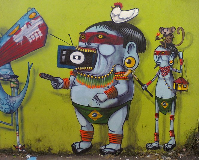 Graffiti brasileiro nas mãos do artista CRANIO
