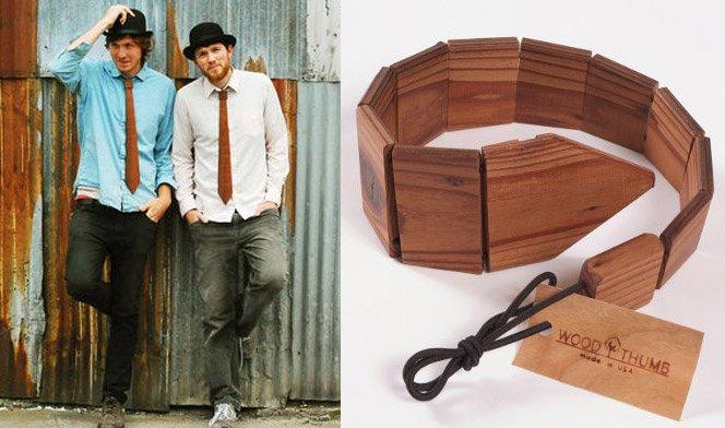 Gravata de madeira