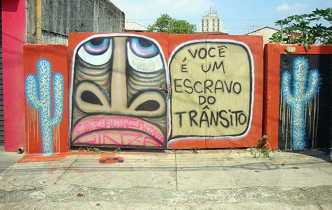 A arte de rua do brasileiro Mundano