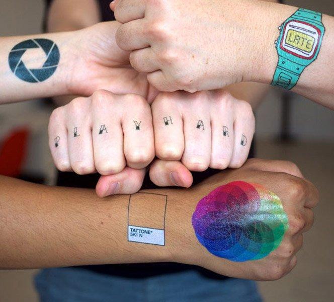 Tatuagens temporárias viram tendência na gringa
