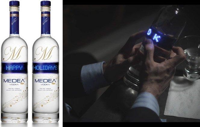 Mensagem na garrafa de vodka