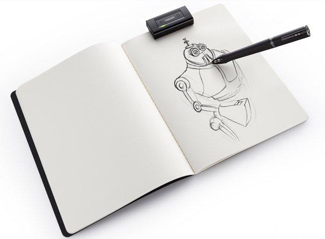 Desenhe no papel e os traços vão para o computador